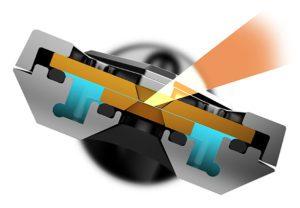 cross-section of Poseidon MEMS device optimized for EDS on UHR TEMs